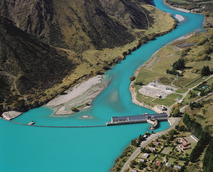 Waitaki Dam and hydroelectric station, New Zealand, 1997.