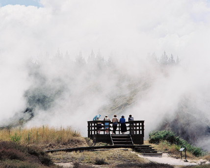Viewing platform, 'Craters of the Moon', Karapiti, New Zealand, 2001.