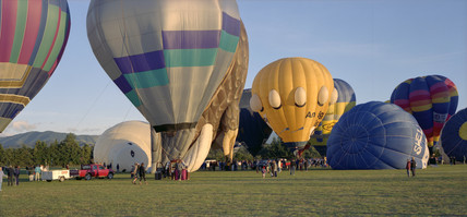 Hot air ballooning, Martinborough, New Zealand, 2001.