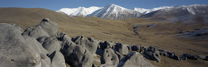 Limestone outcrops, Canterbury, New Zealand, 2001.