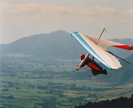Hang gliding, Matamata, New Zealand, 1998.