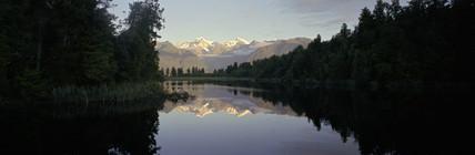 Lake Matheson, New Zealand, April 1996.