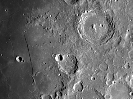 Arzachel and Rupus Recta craters, 10 December 2005.