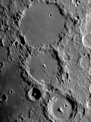 Ptolemaeus, Alphonsus and Arzachel Craters, 27 May 2004.