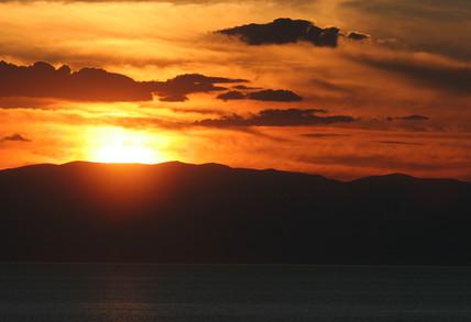 Pre-eclipse sunset, Turkey, 28 March 2006.