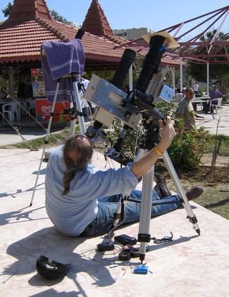 Photographing a total eclipse of the Sun, Turkey, 29 March 2006.