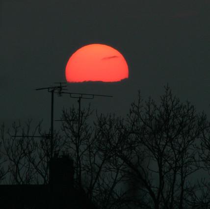 Sunset, 8 February 2005.