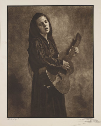 Blind singer, 'Confidence', c 1930.