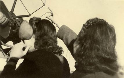 Women training in anti-aircraft procedures, Second World War, 1940s.
