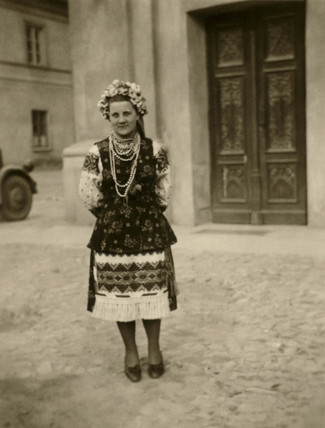 Young woman in traditional costume, Balkans, Second World War, 1940s.
