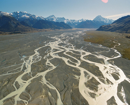 Tasman River, New Zealand, May 1995.