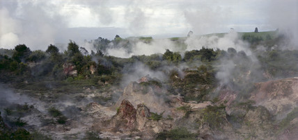 Geothermal activity, 'Craters of the Moon', Karapiti, New Zealand, 1993.