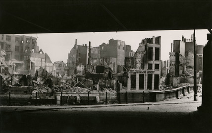 Blitz damage, Rotterdam, Second World War, May 1940.