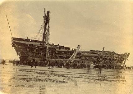 Wreck of HMS 'Foudroyant', Blackpool, 1897.