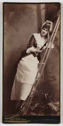 Portrait of Sarah Jowett dressed as a maid, late19th-early 20th century.