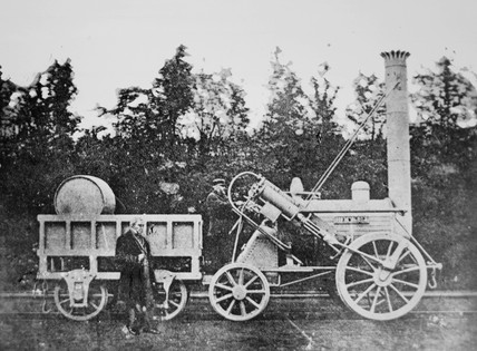 'George Stephenson and the Rocket'.