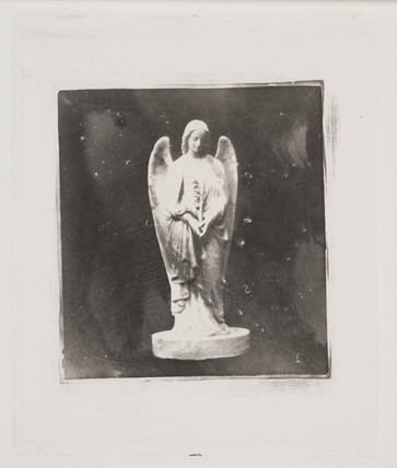 Statue of an angel, c 1853.