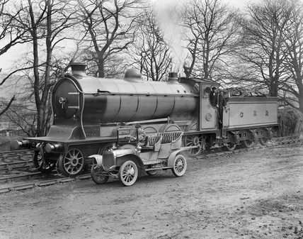 Caledonian Railway steam locomotive, early 20th century.