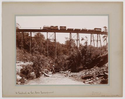 'A Viaduct on the Mau Escarpment', c 1900.