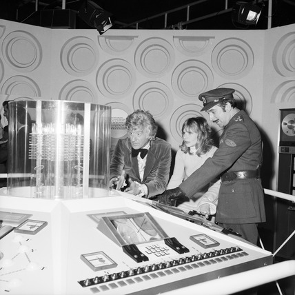 Doctor Who in the Tardis, Science Museum, December 1972.