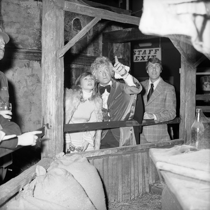 Jon Pertwee and Katy Manning, December 1972.