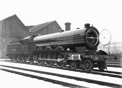 'Raven Pacific' steam locomotive, c April 1924.