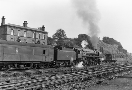 Steam locomotive, No 70015 'Apollo', Wakefield Kirkgate Station, c 1966.