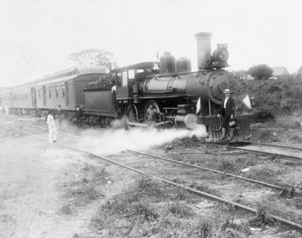 'Sir W D Pearson's Special Train', San Juan, Mexico, 1901-1910.