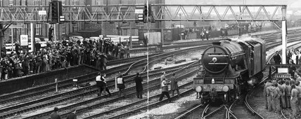 'Flying Scotsman', Derby, February 1973.