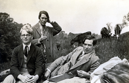 Students in a field, 1930s.