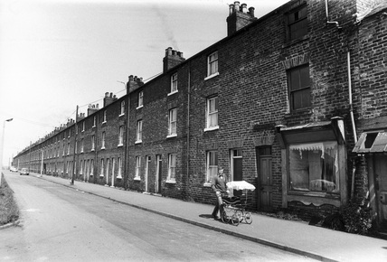 Terraced houses, West Yorkshire, May 1975.