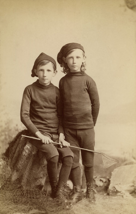 Two boys dressed as fishermen, c 1901-1910.