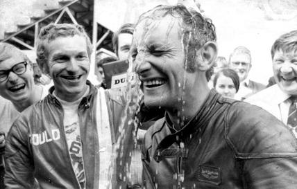 Ken Carruthers, Australian motorcyclist, June 1970.