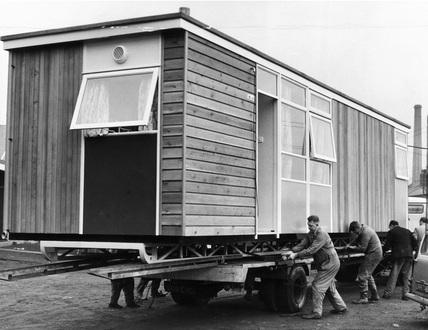 Pre-fab house, December 1963.