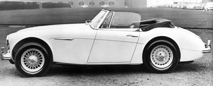 Austin Healey Sports Convertible Mark III, February 1964.