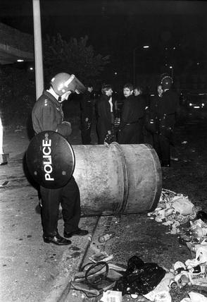 Brixton riots, London, September 1985.