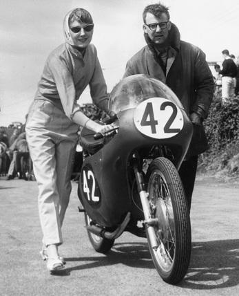 Motorcycle race, June 1960.