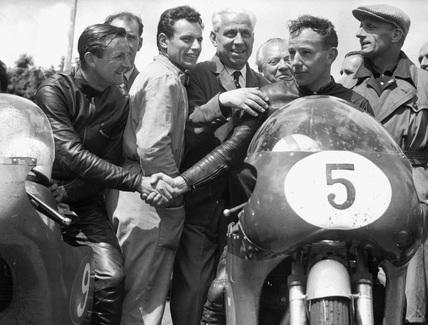 Junior TT motorcycle race, Isle of Man, June 1959.