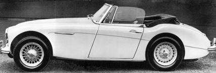 Austin Healey Sports Convertible Mark III, February 1964.