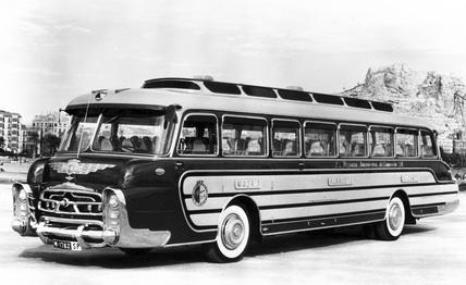 Leyland bus, Spain, c 1950s.