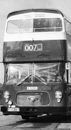 New Leyland bus for Stockholm, February 1967.