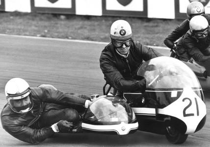 Motorcycle race, Oulton Park, Cheshire, April 1971.