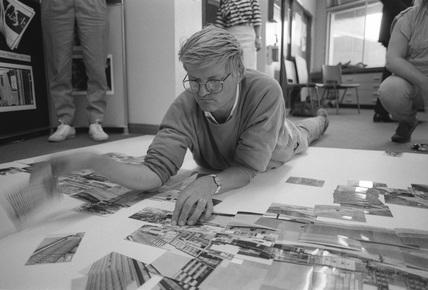 David Hockney, NMPFT, Bradford, 19 or 20 July 1985.