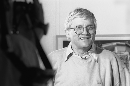 David Hockney at the NMPFT, Bradford, July 1985.