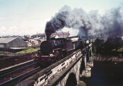 AYR Waterside Express hauled by a 'Crab', c 1950s.