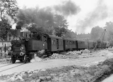 MAV steam locomotive, Hanthaza, Hungary, 1929.
