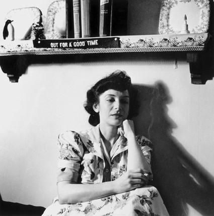 Woman listening to a murder mystery on the radio, Washington DC, USA, 1943.