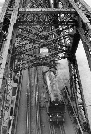 'Auld Reekie' crossing the Forth Bridge, Scotland, c 1958.