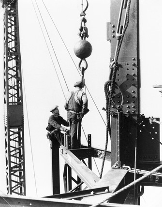 Constructing the Empire State Building, New York, c 1931.