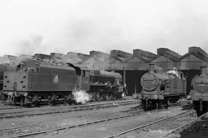 Edge Hill locomotive shed, Liverpool, mid 1950s.